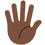 Hand With Fingers Splayed: Dark Skin Tone on Twitter Twemoji 11.3