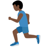 Person Running: Dark Skin Tone on Twitter Twemoji 11.3