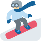 Snowboarder: Medium-Light Skin Tone on Twitter Twemoji 11.3