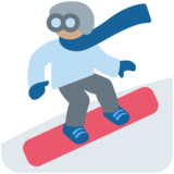 Snowboarder: Medium Skin Tone on Twitter Twemoji 11.3