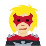 Supervillain: Medium-Light Skin Tone on Twitter Twemoji 11.3
