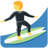 Person Surfing on Twitter Twemoji 11.3