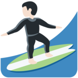 Person Surfing: Light Skin Tone on Twitter Twemoji 11.3