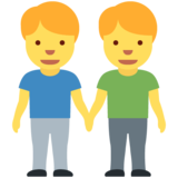 Men Holding Hands on Twitter Twemoji 11.3