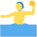 Person Playing Water Polo on Twitter Twemoji 11.3