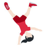 Woman Cartwheeling: Light Skin Tone on Twitter Twemoji 11.3