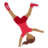 Woman Cartwheeling: Medium-Dark Skin Tone on Twitter Twemoji 11.3