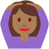 Woman Gesturing OK: Medium-Dark Skin Tone on Twitter Twemoji 11.3