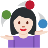 Woman Juggling: Light Skin Tone on Twitter Twemoji 11.3
