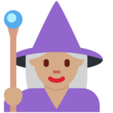 Woman Mage: Medium Skin Tone on Twitter Twemoji 11.3