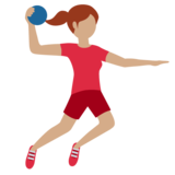 Woman Playing Handball: Medium Skin Tone on Twitter Twemoji 11.3