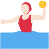 Woman Playing Water Polo: Light Skin Tone on Twitter Twemoji 11.3