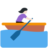 Woman Rowing Boat: Light Skin Tone on Twitter Twemoji 11.3