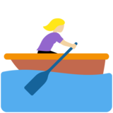 Woman Rowing Boat: Medium-Light Skin Tone on Twitter Twemoji 11.3