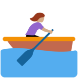 Woman Rowing Boat: Medium Skin Tone on Twitter Twemoji 11.3