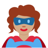Woman Superhero: Medium Skin Tone on Twitter Twemoji 11.3