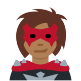 Woman Supervillain: Medium-Dark Skin Tone on Twitter Twemoji 11.3