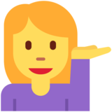 Woman Tipping Hand on Twitter Twemoji 11.3