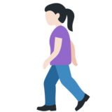 Woman Walking: Light Skin Tone on Twitter Twemoji 11.3