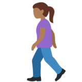 Woman Walking: Medium-Dark Skin Tone on Twitter Twemoji 11.3