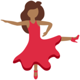 Woman Dancing: Medium-Dark Skin Tone on Twitter Twemoji 12.0