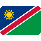Flag: Namibia on Twitter Twemoji 12.0