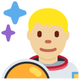 Man Astronaut: Medium-Light Skin Tone on Twitter Twemoji 12.0