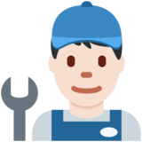 Man Mechanic: Light Skin Tone on Twitter Twemoji 12.0
