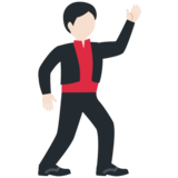 Man Dancing: Light Skin Tone on Twitter Twemoji 12.0