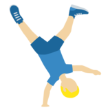 Man Cartwheeling: Medium-Light Skin Tone on Twitter Twemoji 12.0