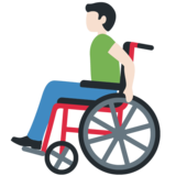 Man in Manual Wheelchair: Light Skin Tone on Twitter Twemoji 12.0
