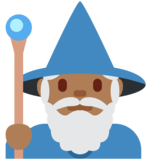 Man Mage: Medium-Dark Skin Tone on Twitter Twemoji 12.0