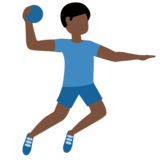 Man Playing Handball: Dark Skin Tone on Twitter Twemoji 12.0