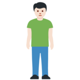 Person Standing: Light Skin Tone on Twitter Twemoji 12.0
