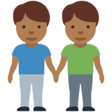 Men Holding Hands: Medium-Dark Skin Tone on Twitter Twemoji 12.0