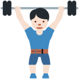 Person Lifting Weights: Light Skin Tone on Twitter Twemoji 12.0