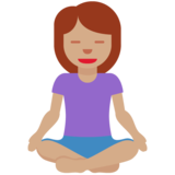Woman in Lotus Position: Medium Skin Tone on Twitter Twemoji 12.0