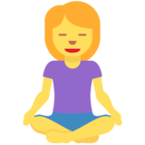 Woman in Lotus Position on Twitter Twemoji 12.0