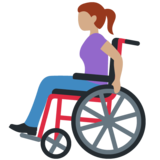 Woman in Manual Wheelchair: Medium Skin Tone on Twitter Twemoji 12.0