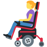 Woman in Motorized Wheelchair on Twitter Twemoji 12.0