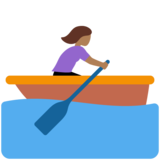 Woman Rowing Boat: Medium-Dark Skin Tone on Twitter Twemoji 12.0
