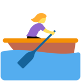 Woman Rowing Boat on Twitter Twemoji 12.0