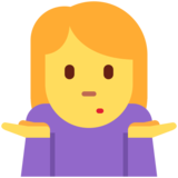 Woman Shrugging on Twitter Twemoji 12.0