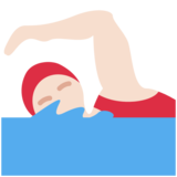 Woman Swimming: Light Skin Tone on Twitter Twemoji 12.0