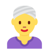 Woman Wearing Turban on Twitter Twemoji 12.0