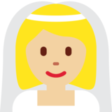 Bride With Veil: Medium-Light Skin Tone on Twitter Twemoji 11.4