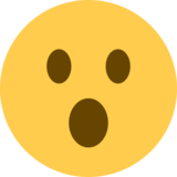 Face with Open Mouth on Twitter Twemoji 11.4