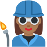 Woman Factory Worker: Medium-Dark Skin Tone on Twitter Twemoji 11.4