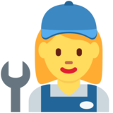 Woman Mechanic on Twitter Twemoji 11.4