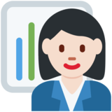 Woman Office Worker: Light Skin Tone on Twitter Twemoji 11.4